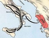 The Route of Pyrrhus of Epirus