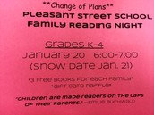This Tuesday... We want you at our Family Reading Night!