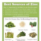 Leafy green vegetables are great sources of Zinc!