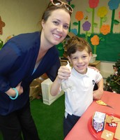 Mrs. Crepaux Helps with Gingerbread Houses!