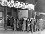 People who were unemployed due to the great depression