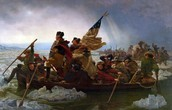 George Washington crossing the Delaware River to at unprepared Hessians