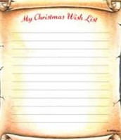 Writing Christmas Lists