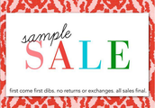 Shop samples 40 - 60% off and be amongst the first to see the fabulous, new collection