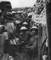 Canadian solders in the trenches