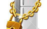 Locked refridge