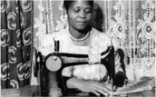 While under house arrest Ngoyi spent most time sewing