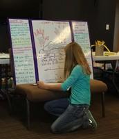 Jayda diagramming a sentence