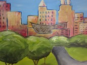 Whimsical Raleigh Skyline