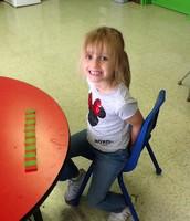 Grace is very proud of her pattern