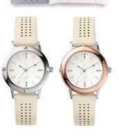 Stone watch- silver and rose gold