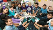 Mrs. Moreno's class had a day with no shoes on!