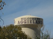 water storage (e=welcome to Aggie land)
