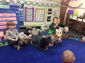 "Acting out ""The Mitten"""