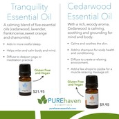 Tranquility and Cedarwood Essential Oils