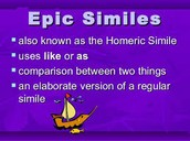 Homeric simile/Extended Metaphor
