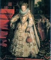 """Elizabeth I."" Image. After Nicholas Hilliard"