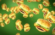 Flying cheese Burgers fell from the sky!!!