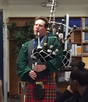 Bagpipe Music Fills the Library