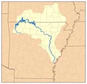 Map of white river