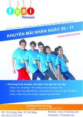 Từ ngày 01/11 đến 20/11/2013 khi may áo tại ÁO LỚP CHO TEEN bạn sẽ nhận được ngay tất cả những quà tặng sau: