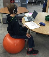 Yoga ball table has a variety of options too!