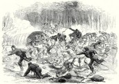 the union retreating from the confederate