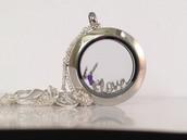 Medium Silver Locket, Silver Ball Station Chain, Gymnast & Love Charms