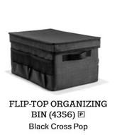 Flip Top Organizing Bin in Black Cross Pop