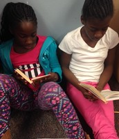 reading and discussing the novel with classmates