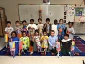 Kindergarten Line Design Wind Sock