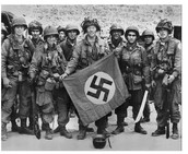 American Soldiers With Captured Nazi Flag