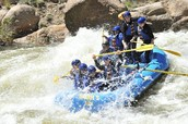 Rafting and getting wet