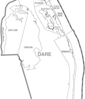 Map of Dare County