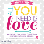 Valentine collection available through Feb 4th.