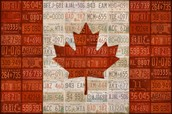 License Plate Art Flag Of Canada