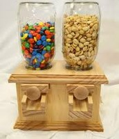 Two sided wooden dispenser