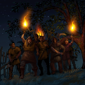 Serfs searching for Crispin