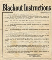 Instructions for blackouts