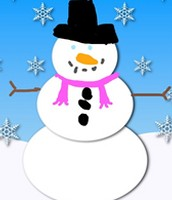 34. Kindergarten Digital Snowmen