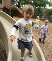 Alex loves the playground.