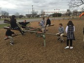 Simple Machines on the playground. Can you find the lever and fulcrum?