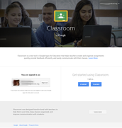 Google Classroom Welcome Page