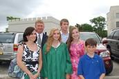 My family at my high school graduation
