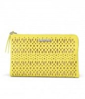 Citrine Perforated Clutch Bag