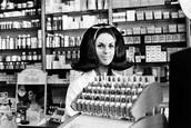 White Salesgirl