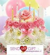 Shape Arranged Flowers - Send My Gift