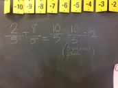 Example for Adding and Subtracting w/ Same  Denominators