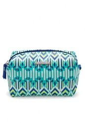 Pouf in Spring Green Ikat