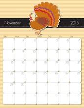 Important Dates . . .